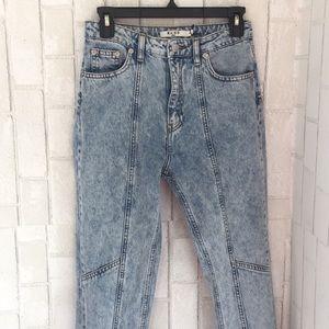 NA-KD seam skinny jeans NWT